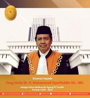 Ketua Mahkamah Agung RI Terpilih periode 2020 - 2025.