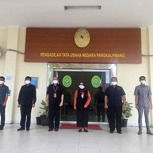 Keluarga Besar PTUN Pangkalpinang Mengucapkan Terima Kasih  Kepada Pengurus Pusat PP IKAHI atas Kiriman Bantuan Masker