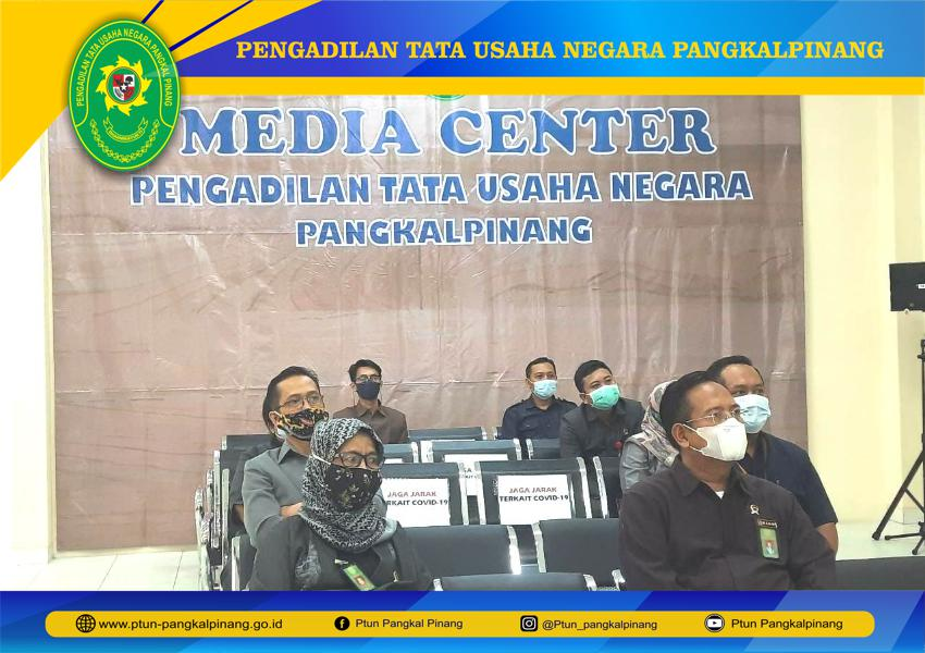PTUN PANGKALPINANG MENGIKUTI ENTRY MEETING - DESK EVALUATION PMPZI MENUJU WBK SECARA VIRTUAL